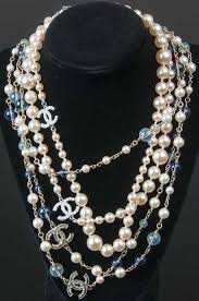 costume jewelry pearl necklace images Chanel two costume jewelry pearl necklaces jpg