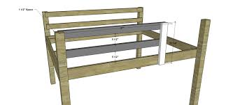 Free Plans For Building Loft Beds by Free Woodworking Plans To Build A Full Sized Low Loft Bunk The