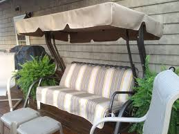 Outdoor Replacement Cushions Deep Seating Patio 48 Interesting Striped Porch Swing Cushions With Canopy