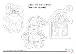 father christmas colouring 3