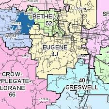 map of oregon eugene school district maps council of governments or official