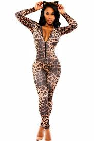 cheetah jumpsuit dl6961 bodysuit autumn bodycon jumpsuit overalls v neck