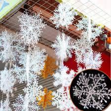 sale 30pcs new classic white snowflake ornaments