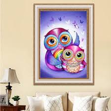 5d owl pattern diamond painting embroidery diy cross stitch home