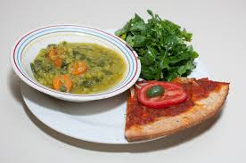 kale salad for thanksgiving dinner with dilip two dinners green split pea dhal pizza