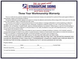 Siding Estimate Template by 3 Year Workmanship Warranty From Straightline Siding In Tx