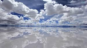 blue reflections wallpapers clouds desktop wallpaper
