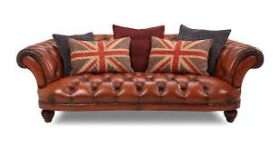 Dfs Chesterfield Sofa Dfs Leather Oskar Chesterfield 4 Seater Sofa Footstool