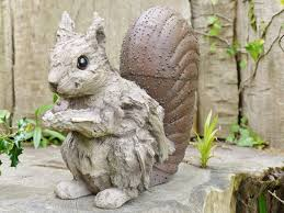 wildlife wood effect garden ornaments statues ebay