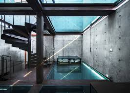 glass roof house house by atelier fcjz has glass floors instead of windows