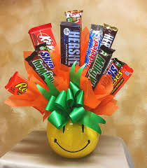 Candy Basket Sweet Smiles Candy Bouquet In Fort Myers Fl Ruth Messmer Florist