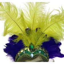 mardi gras headband gras headband w feather