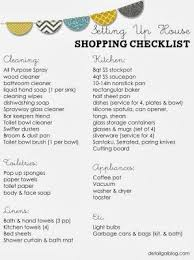 checklist essentials setting up house free printable setting up house checklist kitchen cleaning