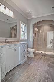 Bathroom With Wood Tile - transitional 3 4 bathroom with rimless undermount bathroom sink