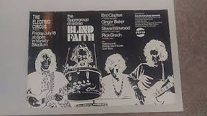 Ginger Baker Blind Faith Posters Clapton Eric Artists C Rock U0026 Pop Music Memorabilia