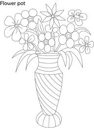 best flower pot coloring page 17 on free coloring book with flower