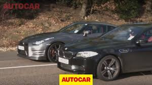 nissan gtr used uk bmw m5 vs nissan gt r www autocar co uk youtube