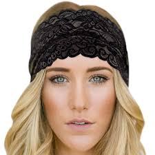 sport headband women lace headband leafy