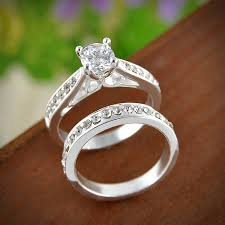 wedding jewelry rings images Silver ring for women engagement wedding jewelry couple rings jpg