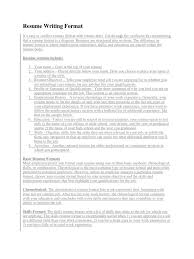Resume Writing Job by Resume Writing Format Docx Résumé Computing