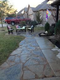 sandstone flagstone pathway sitting area with decomposed granite
