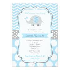 baby boy baby shower invitations elephant baby shower invitations announcements zazzle