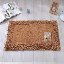 Small Area Rugs Chenille Cotton Door Mat Soft Water Absorption Floor Area Rug Non