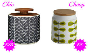 cheap kitchen canisters chic vs cheap retro storage jars chic living