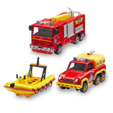 fireman sam diecast 3 pack 15 00 hamleys fireman sam