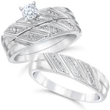 wedding ring set for him and 1 3ct his hers diamond trio engagement matching mens wedding ring