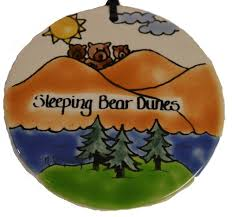 sleeping dunes ceramic ornament two fish gallery