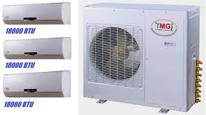 ductless mini split ymgi 54000 btu 3 x 18000 tri zone ductless mini split air