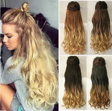 ombre hair extensions uk clip in women ponytail wavy hair extensions ebay