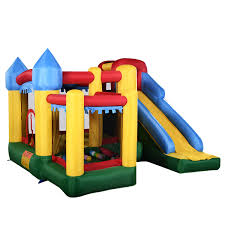 costway mighty inflatable bounce house castle jumper moonwalk