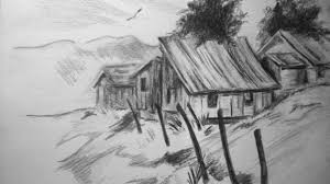 pencil drawings of nature step by step how to draw nature pictures