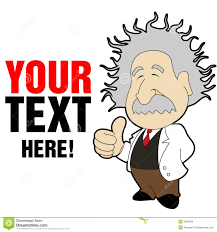 einstein cartoon royalty free stock photo image 8584365