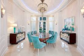 Aqua Dining Room Dazzling Mirrored Buffet Vogue Other Metro Transitional Dining