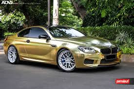 bmw modified crazy gold wrapped bmw m6 adv10 0 mv2 cs wheels