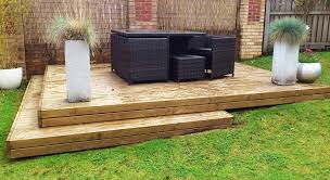 Garden Decking Ideas Photos Sloped Garden Decking Ideas And Photos Madlonsbigbear