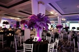 ostrich feather centerpieces purple lavender lilac wedding purple ostrich feather centerpeice