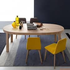 cb398 e atelier connubia calligaris table in wood oval top 170