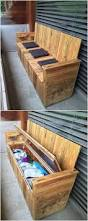 Patio Furniture Made Out Of Wooden Pallets by Best 25 Pallet Storage Ideas On Pinterest Wood Pallets Pallet