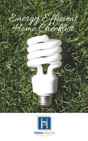 energy efficient home checklist
