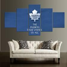 aliexpress com buy 5 pieces toronto maple leafs hd canvas