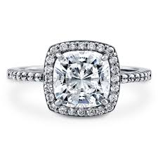 cubic zirconia halo engagement rings sterling silver cushion cubic zirconia cz halo engagement ring