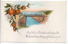 gold country girls lovely california christmas postcards sending