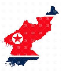 Korea Flag Image North Korea Flag And Map Outline Royalty Free Vector Clip Art