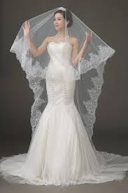 bridal veil lace edge wedding veil uniqistic