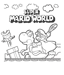 mario coloring in pages mario coloring