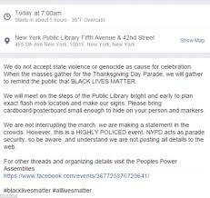 thanksgiving for facebook pictures ferguson protesters in new york plotting revolt against macy u0027s
